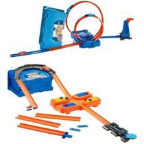 Hot Wheels Track Builder Kit de Looping Azul Flk89 Mattel -