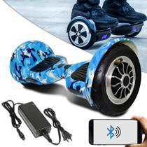 Hoverboard 10 Bluetooth Bateria Azul Com Led + Bolsa - Balance Wheel