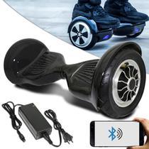 Hoverboard 10 Bluetooth Bateria Preto Com Led + Bolsa - Balance Wheel