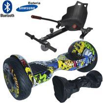 Hoverboard 2 Rodas 10 Polegadas + Carrinho Assento Hoverkart Bluetooth BW057-058 Colorido Bolsa - Importway