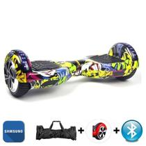"Hoverboard 6.5"" Bluetooth LED lateral e frontal - Bateria Samsung - Smart balance"
