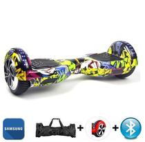 "Hoverboard 6.5"" Clowns Bluetooth LED lateral e frontal  - Bateria Samsung - Smart balance wheel"