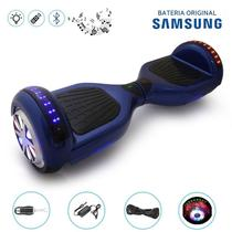 """Hoverboard 6.5"""" Full LEDs Azul Bluetooth com Control - Bateria Samsung - Smart balance"""