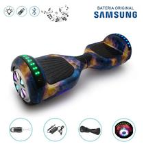 "Hoverboard 6.5"" Full LEDs Galaxy Bluetooth com Controle - Bateria Samsung - Smart balance wheel"
