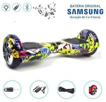 "Hoverboard 6.5"" Hip-Hop LEDs Bluetooth com Controle - Bateria Samsung - Smart balance wheel"