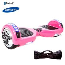 Hoverboard 6.5 Rosa Bluetooth Led lateral e frontal com mochila - Bateria Samsung - Hoverboardx