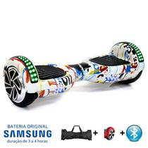 "Hoverboard 6.5"" Tuya Bluetooth LED lateral e frontal  - Bateria Samsung - Smart balance wheel"