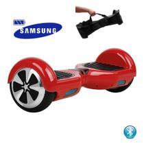 "Hoverboard 6.5"" Vermelho Bluetooth  - Bateria Samsung - Smart balance wheel"
