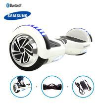 "Hoverboard 6,5"" Branco HoverboardX Bateria Samsung Bluetooth Smart Balance Com Bolsa -"