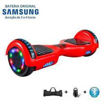 Hoverboard 6,5 Polegadas Vermelho Full Led Com Bateria Samsung - Bolsa - Led Roda E Controle - Smart Balance