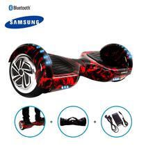 "Hoverboard 6,5"" Red Fire  HoverboardX USA Bateria Samsung Bluetooth Smart Balance Com Bolsa -"