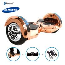 "Hoverboard 8"" Champagne Cromado Hoverboard Bateria Samsung Bluetooth Smart Balance Com Bolsa -"