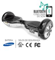 Hoverboard balance wheel branco e carbono - Two dogs