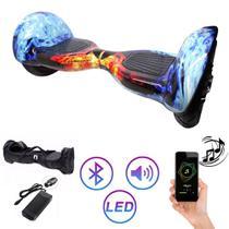 Hoverboard Clássico GELO CHAMA 10 Polegadas - Smart Balance - Bluetooth - LEDs -  Bateria Original com bolsa -