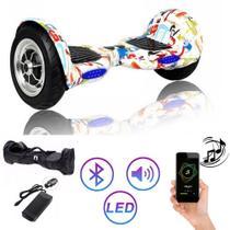 Hoverboard Grande COLORIDO GRAFITTE 10 Polegadas - Smart Balance - Bluetooth - LEDs -  Bateria Original com bolsa -