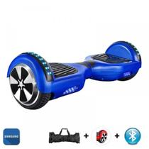 "Hoverboard Scooter 6.5"" AZUL Bluetooth e LED com Bolsa - Bateria Samsung - Smart Balance -"