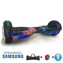 "Hoverboard Scooter 6.5"" UNIVERSO Bluetooth e LED Lateral com Bolsa - Bateria Samsung - Smart Balance -"