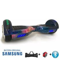 "Hoverboard Scooter 6.5"" UNIVERSO Bluetooth e LED Lateral com Bolsa - Bateria Samsung - Smart Balance -"