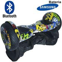 Hoverboard Skate Elétrico 2 Rodas 10 Polegadas Bluetooth Importway Bateria Samsung Colorido Bolsa -