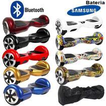 Hoverboard Skate Elétrico 2 Rodas 6,5 Polegadas Bluetooth Bateria Samsung Original Bolsa Led - Conforme Estoque Disponível