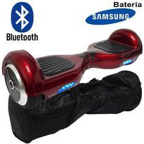 Hoverboard Skate Elétrico 2 Rodas 6,5 Polegadas Bluetooth Bateria Samsung Vermelho Original Bolsa - S/m