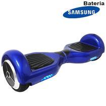 Hoverboard Skate Elétrico 2 Rodas 6,5 Polegadas Bluetooth Importway Bateria Samsung Azul Bolsa Led -