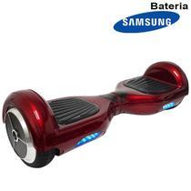 Hoverboard Skate Elétrico 2 Rodas 6,5 Polegadas Bluetooth Importway Bateria Samsung Vermelho Bolsa -