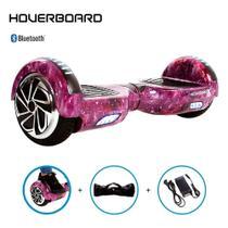 Hoverboard Skate Elétrico 6,5 Aurora Lilás Barato Bluetooth -