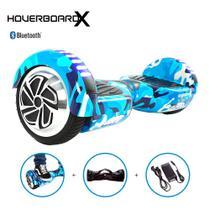 Hoverboard Skate Elétrico 6,5 Azul Militar Hoverboardx Barato Bluetooth -
