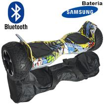 Hoverboard Skate Elétrico 8.5 Off Road Cross Rally Bluetooth BW-056 Bat Samsung Colorido Bolsa Led - Importway