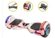 Hoverboard Skate Elétrico Leds Bluetooth 6,5  Rosa Camuflado - Smart Wheel