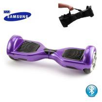Hoverboard X 6.5 Polegadas ROXO com bolsa - Bluetooth, LED Frontal, Bateria Samsung - Smart Balance