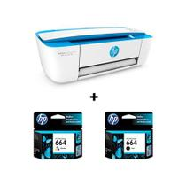 Hp Deskjet Ink Advantage Color 3776 + Cartucho Hp 664 Colorido e 664 Preto Original