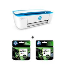 Hp Deskjet Ink Advantage Color 3776 + Cartucho Hp 664 Xl Colorido e 664 Xl Preto Original