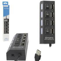 Hub  4 Portas Usb 2.0 Com Switch E Led Indicador - Lehmox Ley-21 -
