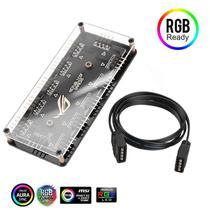 Hub Rgb 12v 4 Pinos Para Até 10 Fans Compatível com Aura Fusion Polychrome - Importec