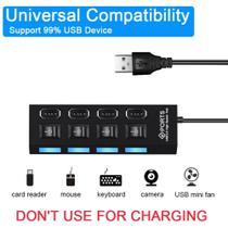 Hub Usb 4 Entradas 2.0 Pendrive Tv Mouse Teclado Adaptador - Multi Qualidade