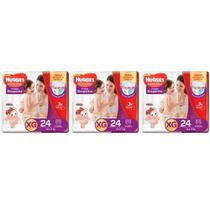 Huggies Supreme Care Fralda Infantil Roupinha XG C/24 (Kit C/03)