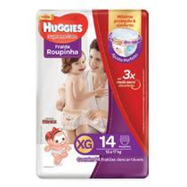 Huggies Supreme Care Roupinha Jumbo Fralda Infantil Xg C/14 -
