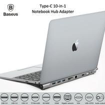 Hyper Drive Super HUB Macbook Baseus Type-C 10 em 1 4K HDMI 1000Mbps LAN SD TF PD VGA 3x USB 3.0 -