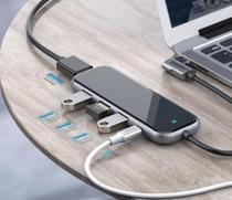 Hyper Drive Super HUB Tipo-C 5 em1  3 x USB 3.0 1x Type-C PD HDMI 4K Baseus -