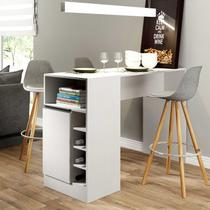 Ilha Bancada de Cozinha 01 Porta 140x92x49 Branco TX - Soluzione - 0535 -