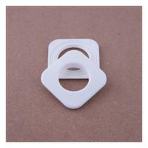 Ilhós Branco Para Cortina Quadrado 19mm C/10 Unid - Wiler-K