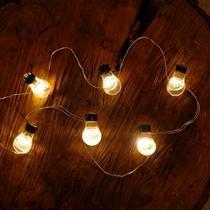Iluminação de Natal - Pisca Pisca com Lâmpadas 20 Leds 2 Pilha AA Incolor - Cromus