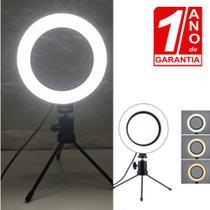 Iluminação Youtuber Maquiagem Ring Light Led 16cm 6 polegada - Redshock