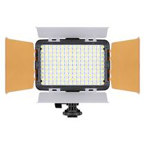 Iluminador Led Foto Vídeo Filmagem Luz Branca 160 Turbo Para Câmera CANON EOS Rebel SL3 - TREV -