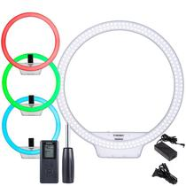 Iluminador LED Ring Light Yongnuo YN608 RGB c/ Várias cores