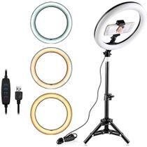 Iluminador ring light led 10 polegadas -