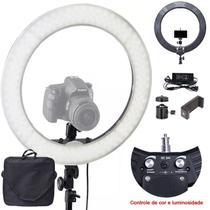Iluminador Ring Light Led - 35cm - Controle de Cor e Luminosidade - Leadwin