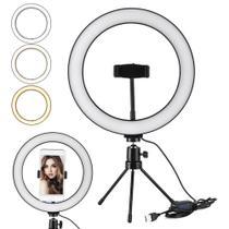 Iluminador Ring Light Selfie Anel Led 10 Polegadas Profissional - St Store